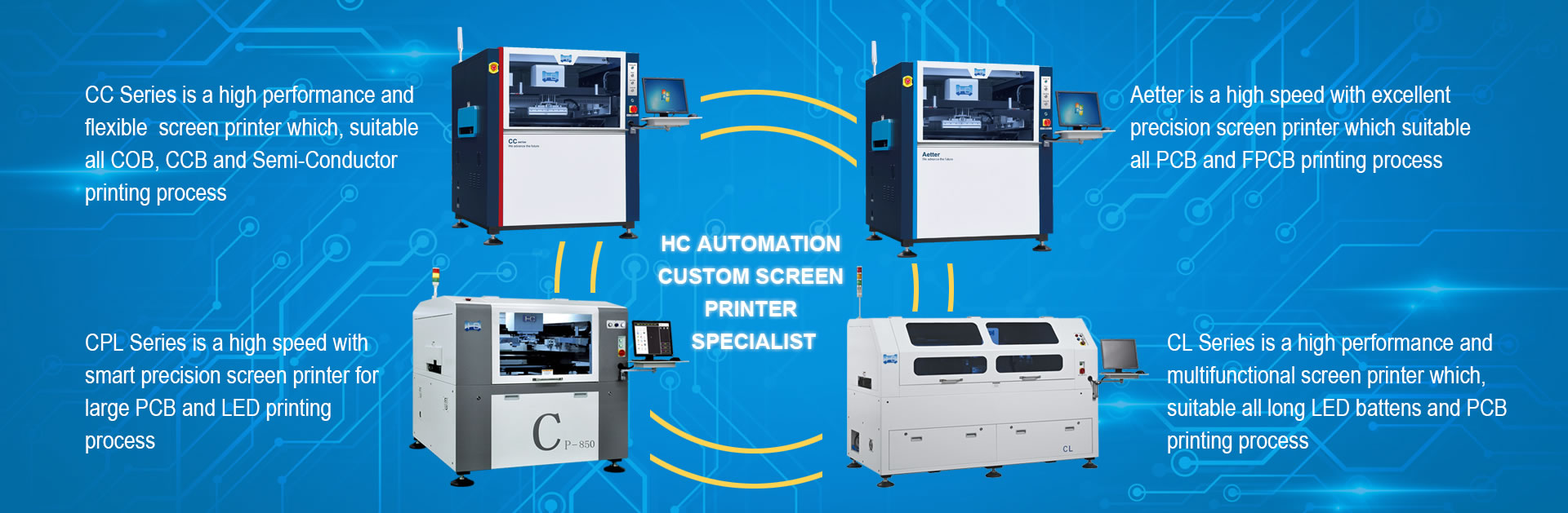 SCREEN PRINTER_Shenzhen HC Automation is SMT Automatic Visual Solder
